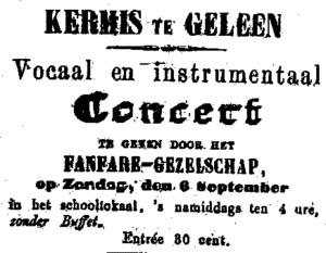 Poster concert tijdens Kermis